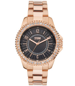 ZIRONA CRYSTAL ROSE GOLD BLACK - Storm watch reference ST47276/BK